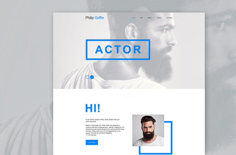 Personal Page Muse Template