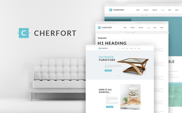 Cherfort - Furniture Company Responsive WordPress Theme