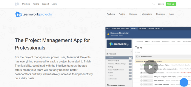 Teamwork Projects - Project Management Software for Professionals