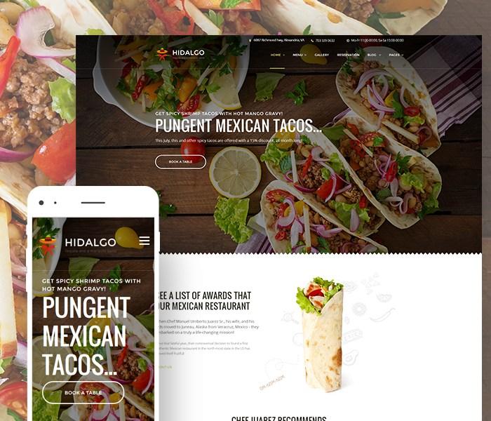 Mexican Food Restaurant WordPress Theme