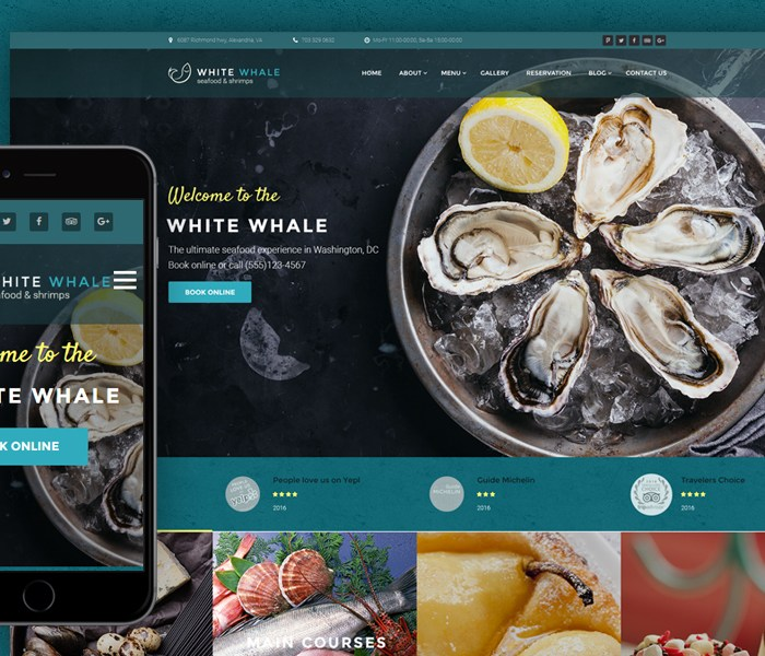 Seafood Restaurant WordPress Theme