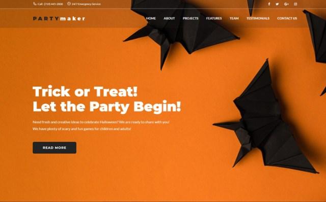 Halloween Party WordPress Theme