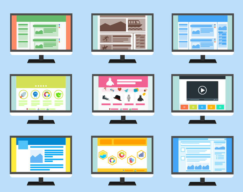 website builder design options