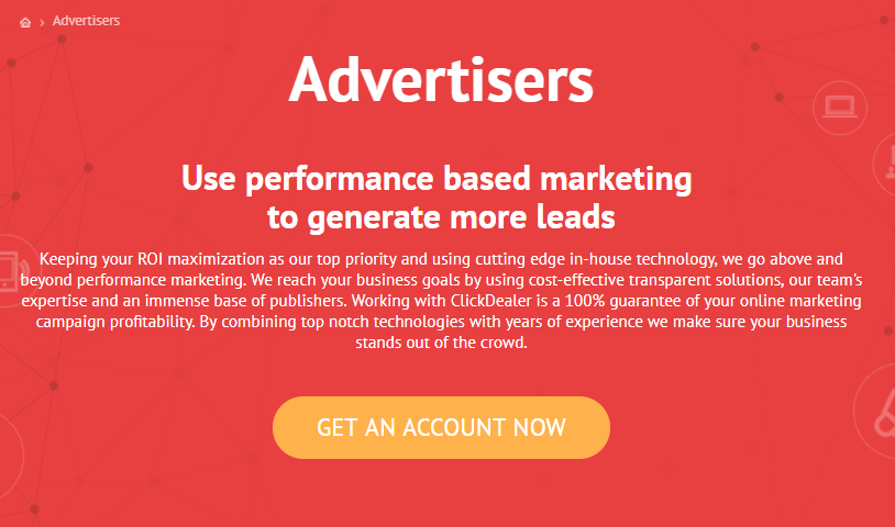 ClickDealer Review - Advertisers