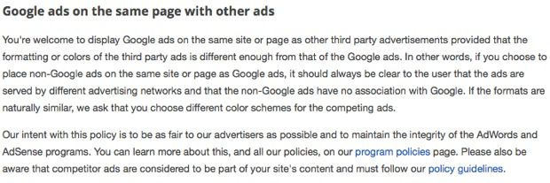 Confirmation from Google AdSense