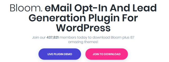 Bloom Email opt in plugin - Content Locker Plugins