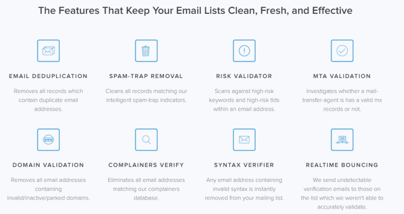 Email List Verify Review - Features