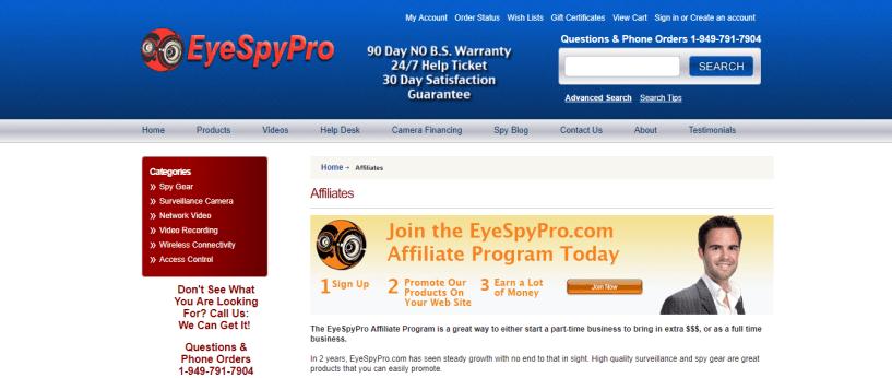 EyeSpyPro Spy Gear Affiliate