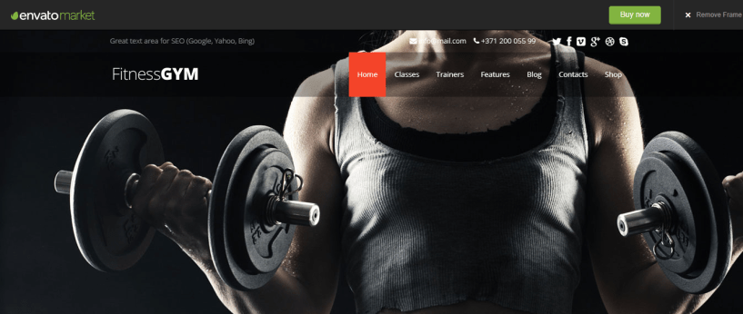 FitnessGYM - WordPress Sports Theme For Club
