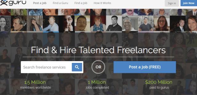 Guru.com - Virtual Assistance Job Website
