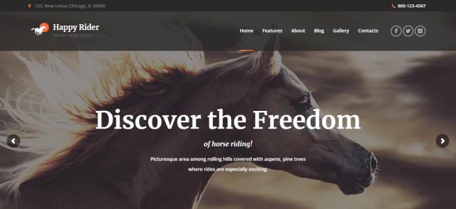 Happy Rider - WordPress Sports Theme