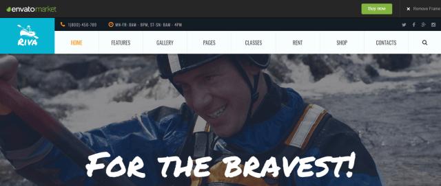 Kayaking - WordPress Sports Theme