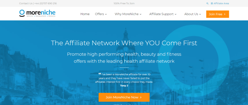 MoreNiche Affiliate Network The Leading Health Affiliate Program