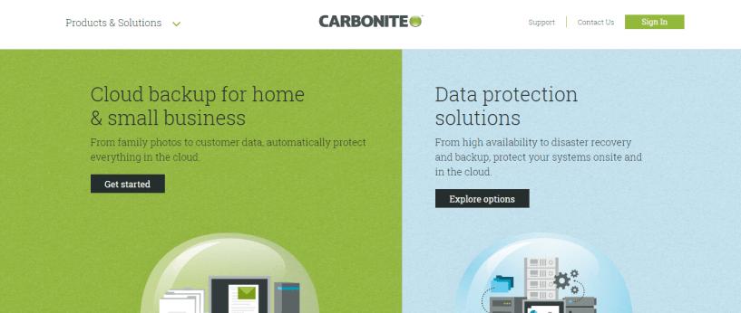 Cloud Backup For Windows - Carbonite