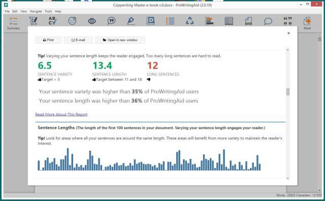 ProWritingAid Review - Content Error Analysis