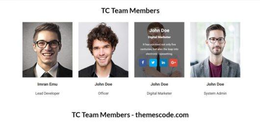 TC Team Members - Team Management Plugin