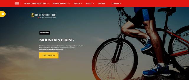 Xtreme Sports Club - WordPress Sports Theme