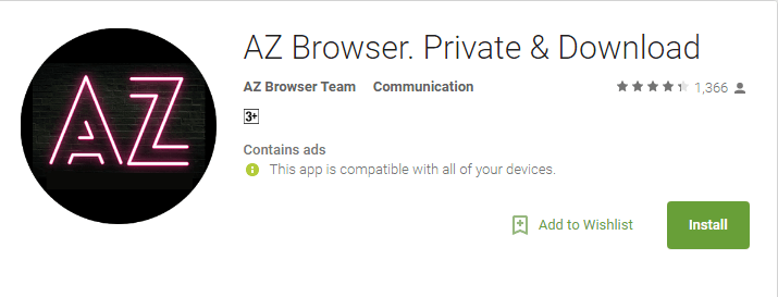 AZ Browser- Anonymous Browsing Apps