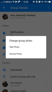 Facebook Messenger- Change Group Photo