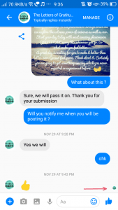 Facebook Messenger- Message Seen