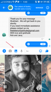 Facebook Messenger- Send a photo from your phone