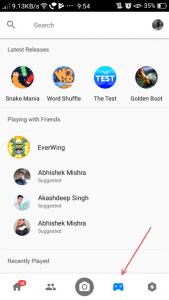 Facebook Messenger- Play Games