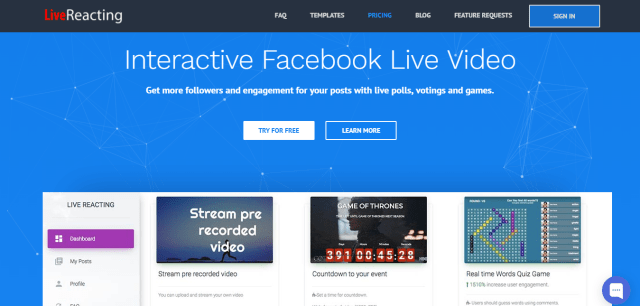 Live Reacting - Facebook Live Streaming App