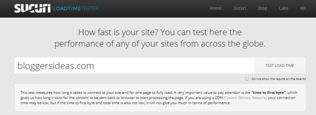 Sucuri- Website Speed Test Tool