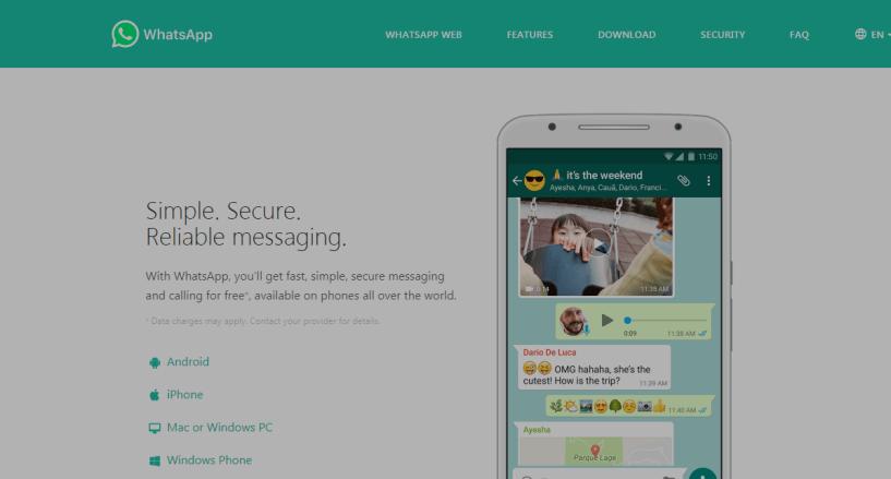 WhatsApp- Best Texting Apps