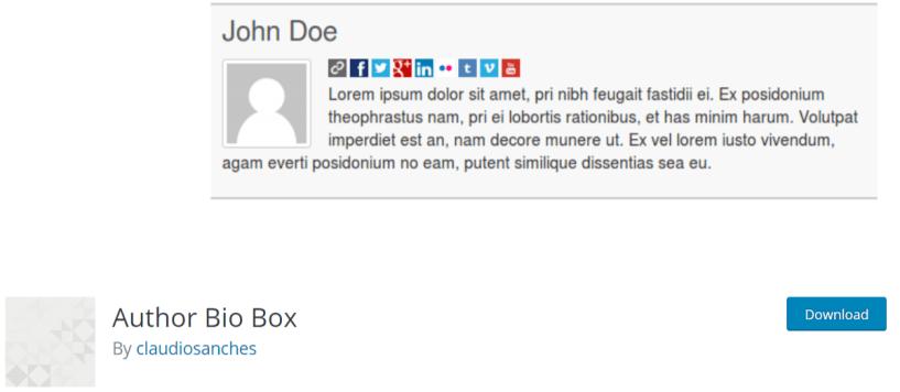 Author Bio Box — WordPress Author Bio Plugins