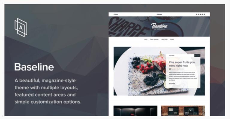 Baseline- WordPress Blog Themes