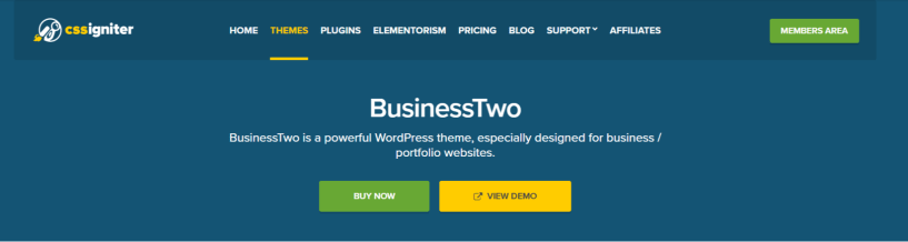 BusinessTwo- WordPress Business Themes