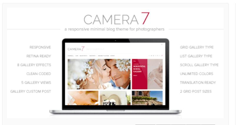 Camera 7- Photography WordPress Themes