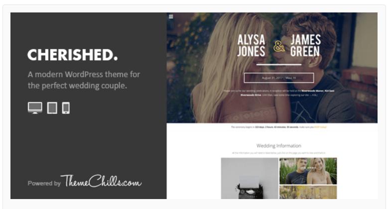 Cherished-WordPress Wedding Themes