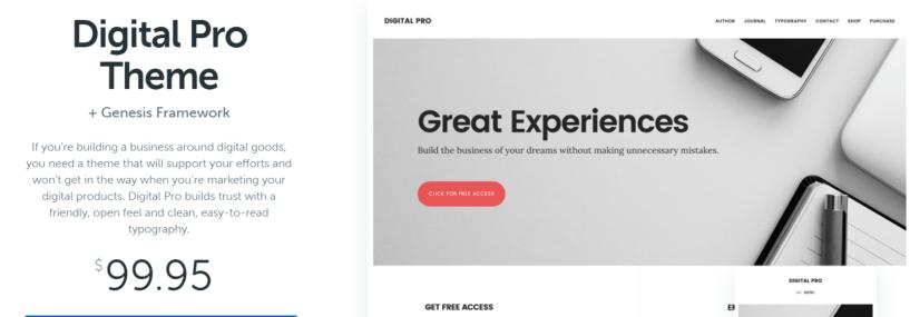 Digital Pro - WordPress Blog Themes