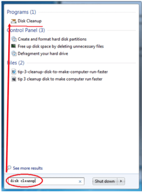Disk Clean up- make a laptop run faster