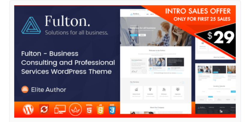 Fulton- WordPress Business Themes