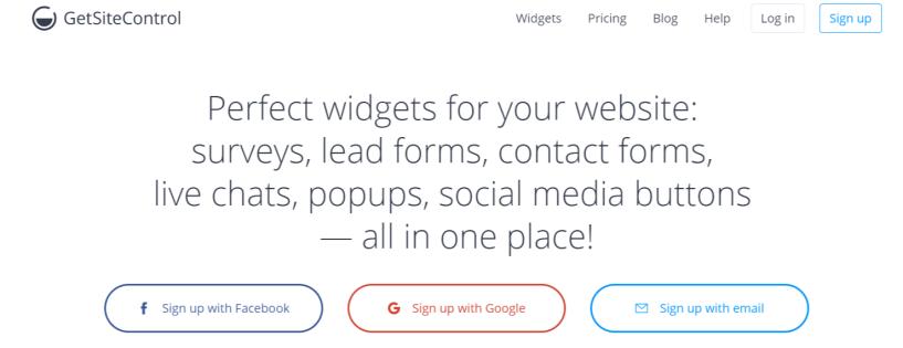GetSiteControl- WordPress Email Marketing Plugins