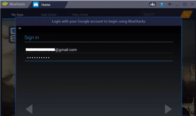 Bluestacks Sign in- Google Play Store for Windows PC