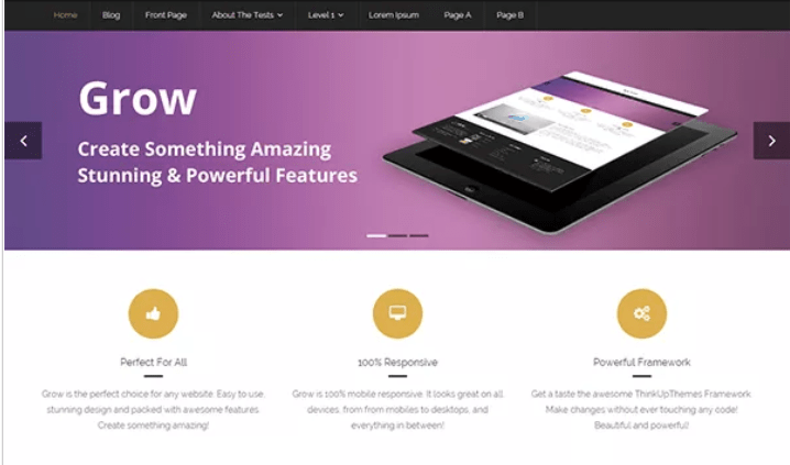Grow — Free WordPress Blog Themes