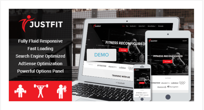 JustFit - WordPress Blog Themes