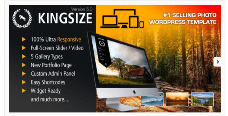 King Size- Photography WordPress Themes