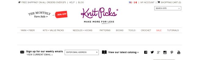 KnitPicks- Art Affiliate Programs