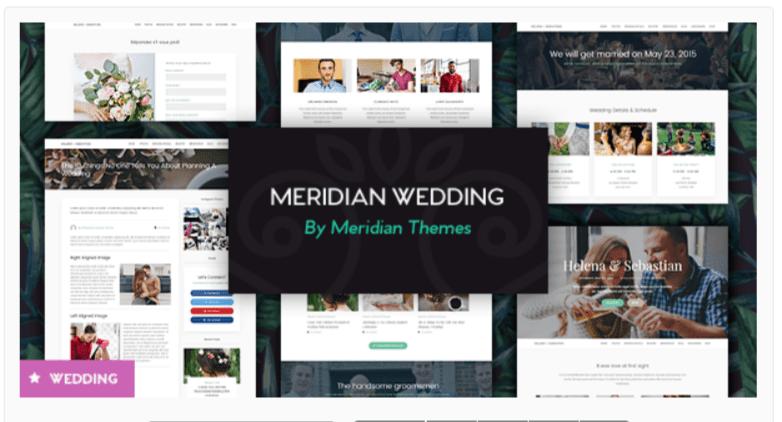 Meridian- WordPress Wedding Themes