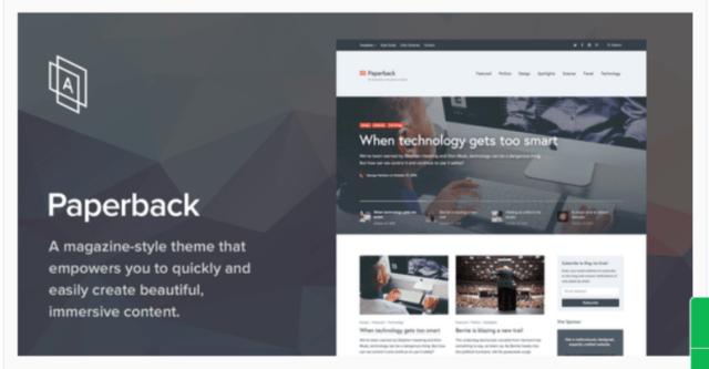 Paperback Magazine- WordPress Blog Themes