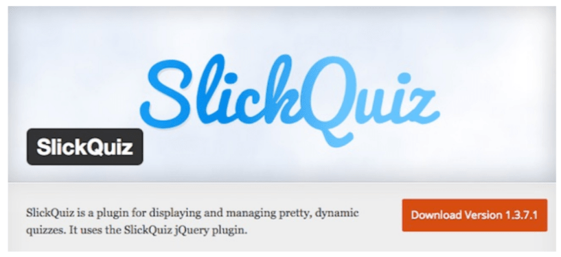 Slick Quiz- WordPress Quiz Plugins