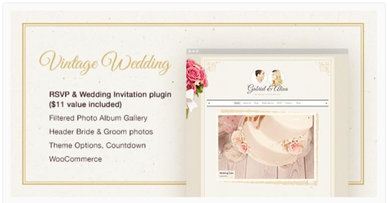 Vintage- Wedding WordPress Themes