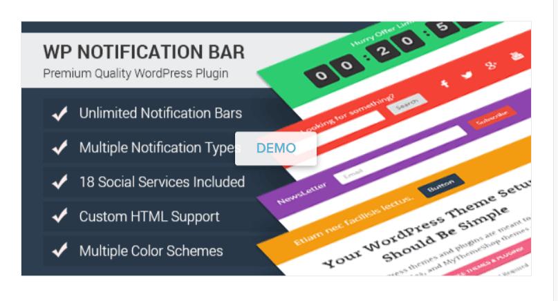 WP Notification Bar - WordPress Email Marketing Plugins