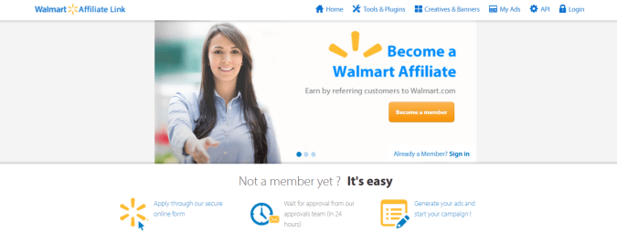 Walmart- Affiliate Programs
