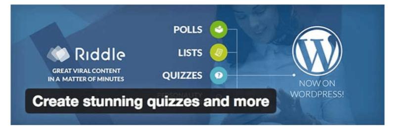 WordPress Quiz Plugins- Riddle